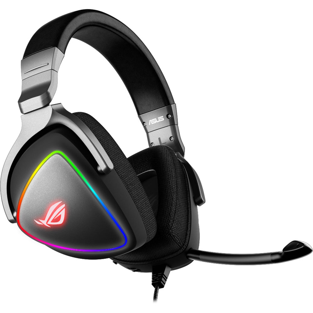 ASUS ROG Delta Gaming Headset with Hi-Res ESS Quad-DAC, Digital Microphone,  and Aura Sync RGB Lighting