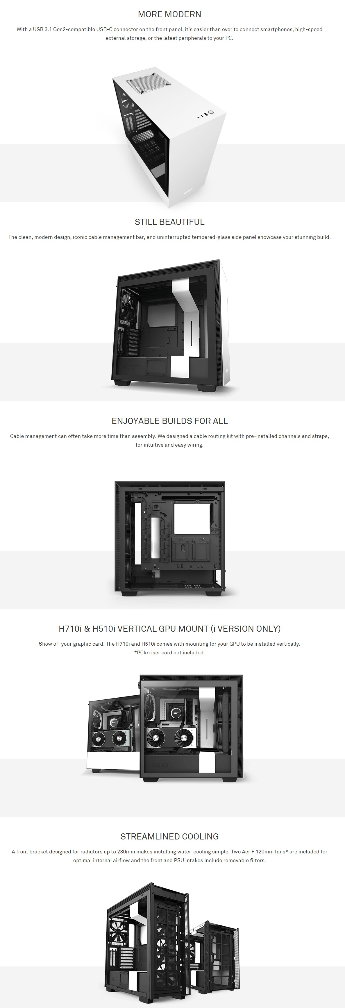 Nzxt H510 Mid Tower Pc Gaming Case Matte Black Pakistan